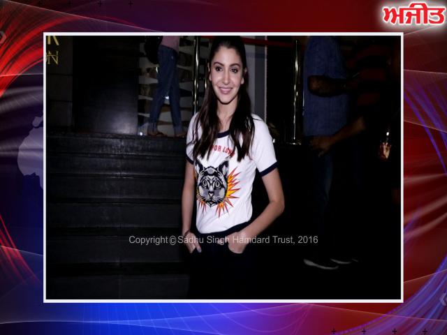 ਮੁੰਬਈ : ਅਨੁਸ਼ਕਾ ਸ਼ਰਮਾ ਦੇਖੀ ਗਈ ਜੁਹੂ ਪੀ.ਵੀ.ਆਰ 'ਚ